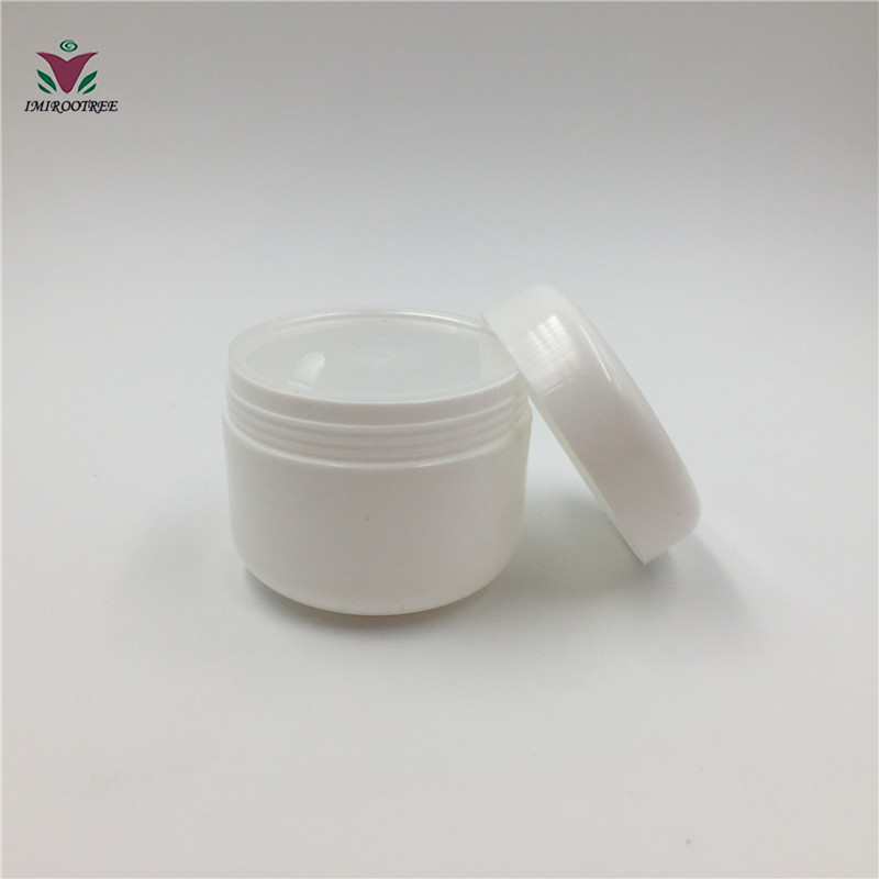 60PCS LOT 50G PP Empty MIX 8 Color Plastic Cosmetic Jar With Screw Cap Sample Makeup Jar Sub bottling Mask Container in Refillable Bottles from Beauty Health