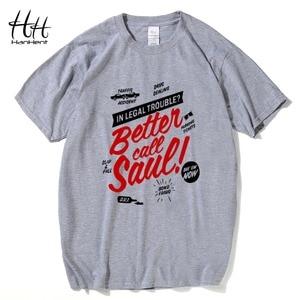 BETTER CALL SAUL Men T-shirt BREAKING BAD Los Pollos Hermanos Cotton Short Sleeve Round Neck Tops Tees Fashion T shirt TA0171