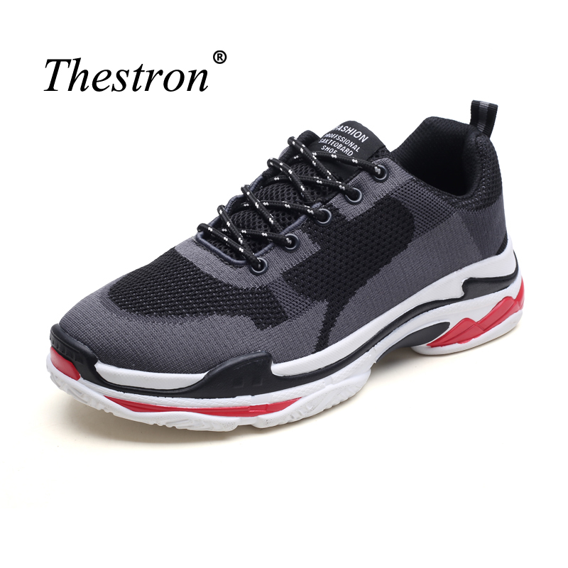 Couples Running Shoes Mesh Ladies Sneakers Anti-slip Man Sneakers for Sport Lace Up Male Outdoor Footwear Black Light Sneakers