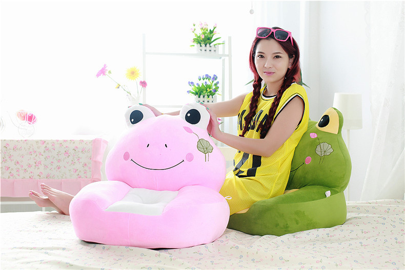 about 54x45cm cartoon Lotus leaf frog plush toy sofa tatami plush toy soft sofa floor seat cushion birthday gift t8551 about 54x45cm cartoon monkey plush toy zipper closure tatami soft sofa floor seat cushion brown colour birthday gift t8954