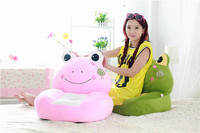 about 54x45cm cartoon Lotus leaf frog plush toy sofa tatami plush toy soft sofa floor seat cushion birthday gift t8551