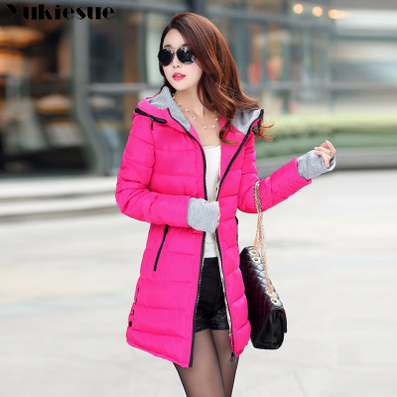 parka   women 2018 Winter Jacket Women's Coats Hooded Coats Female   Parka   Thick Cotton Padded Lining Winter women's Coats outwear