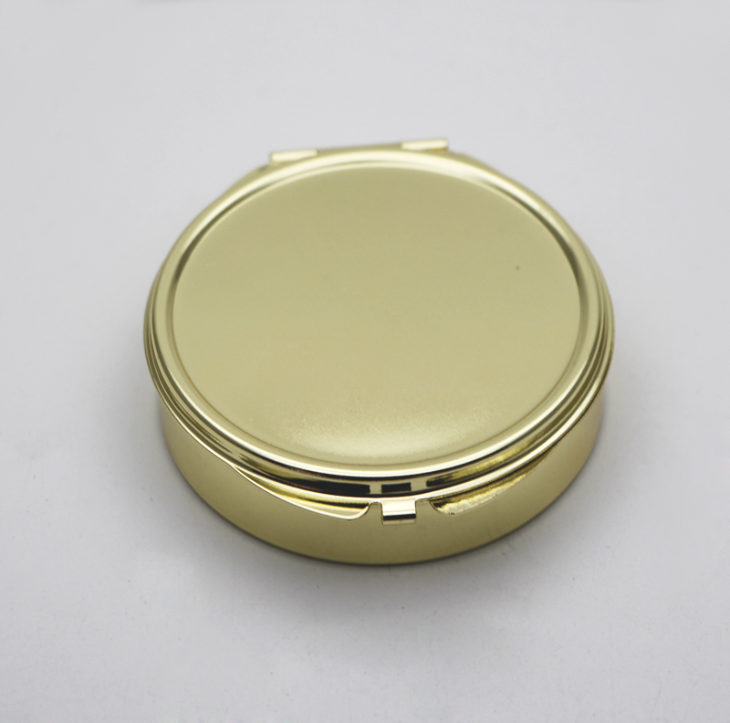 Gold Compact Mirror With 3 Compartments