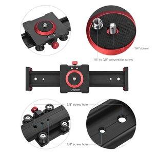 Image 4 - Стабилизатор для камеры Andoer, Рельс из алюминиевого сплава для DSLR камеры, аксессуары для фотографии, 30/40/50 см