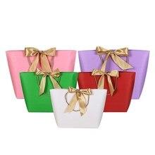 20 шт. красота Подарочная коробка для одежды книги упаковка золотая ручка бумажная коробка сумки крафт бумага Подарочный пакет с ручками логотип на заказ