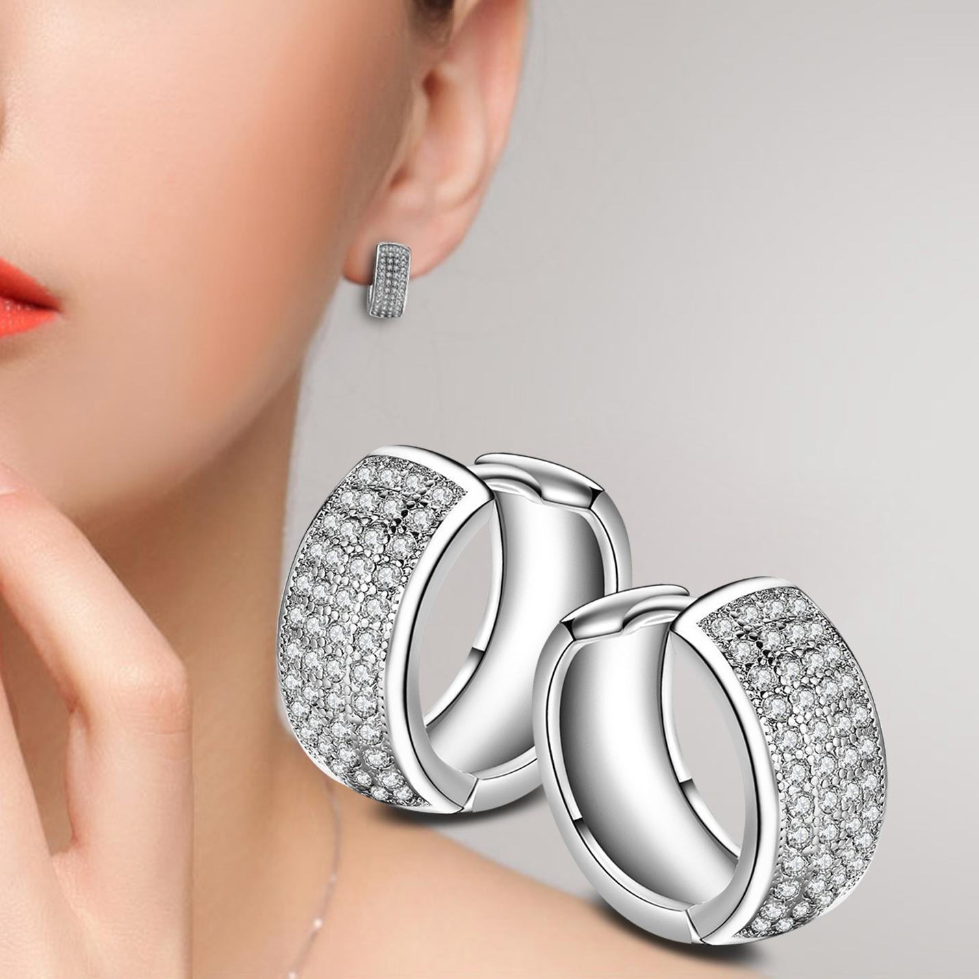 AAA Zircon Hoop Earrings For Women Earring Earings 925 Sterling Silver Jewelry Earing Brincos Brinco Oorbellen Pendientes Gift F