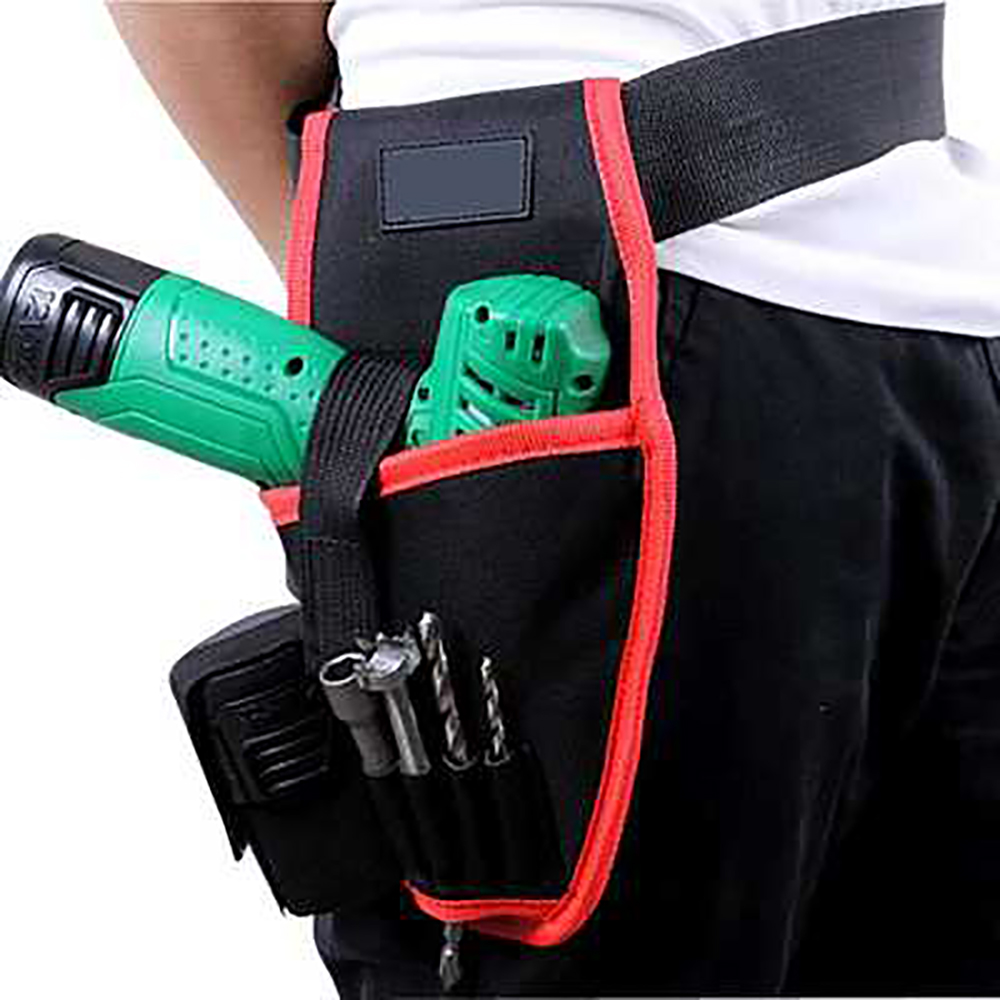 Portable Drill Holder Holst Pouch Cordless Tool Drill Waist Tool Belt Bag Charging Drill Charging Drill Bag Pocket