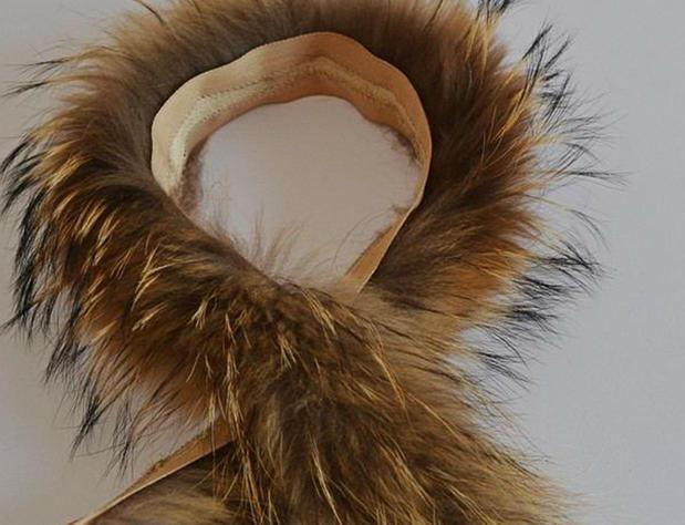 2016Real fur collar 100% genuine raccoon fur scarf 70cm winter for women hot selling