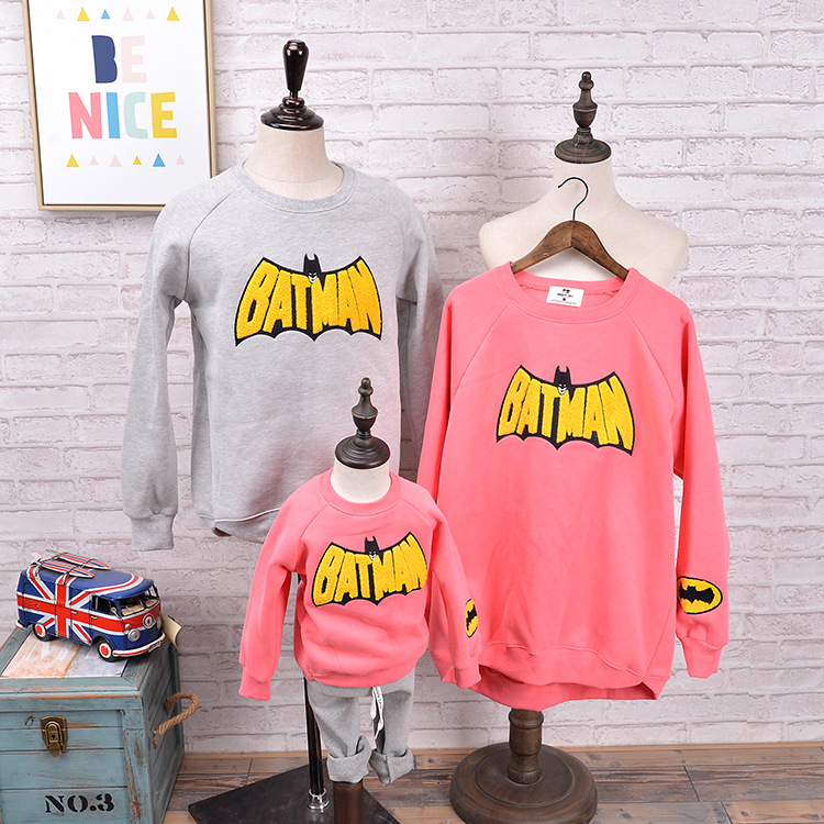 Batman Kersttrui.Christmas Matching Father Mother Daughter Son Mommy Me Clothes