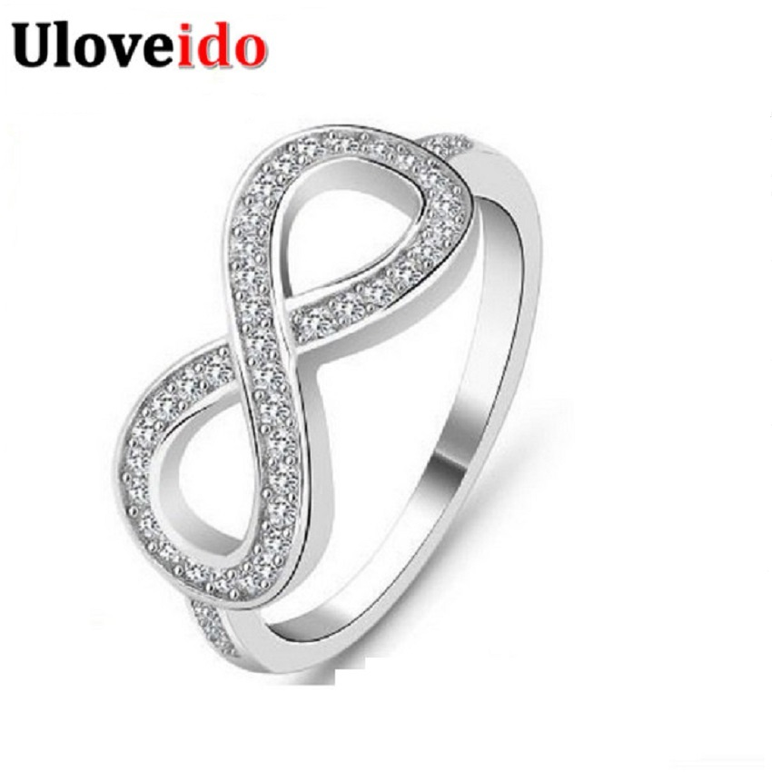 50% off Wedding Rings Joyas Vintage Ring Silver Color Crystal Women's Accessories Wholesale Bijouterie Jewelry Ring Aneis Y001
