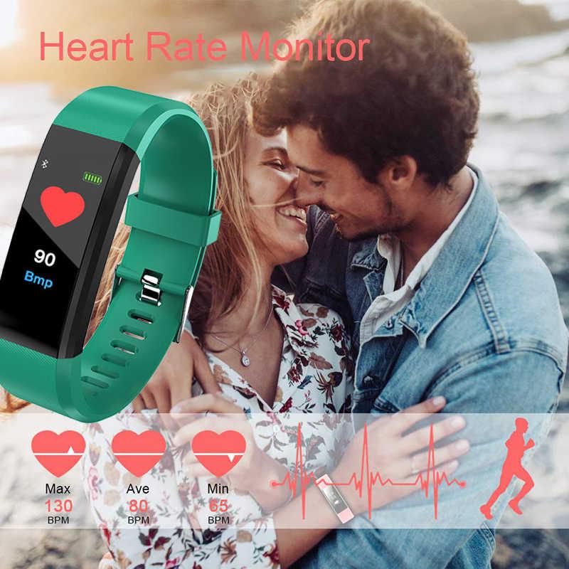 Браслет для здоровья с кровяным давлением, часы с монитором сердечного ритма, спортивные часы, фитнес-трекер для Honor iOS Android + коробка