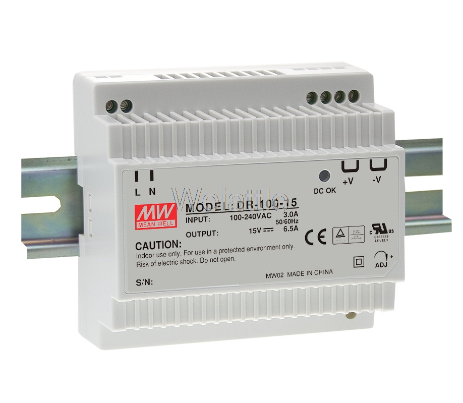 цена на MEAN WELL original DR-100-24 24V 4.2A meanwell DR-100 24V 100.8W Single Output Industrial DIN Rail Power Supply