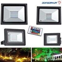Светодиодный прожектор для наружного применения красный, зеленый, синий прожектор изменение цвета светодиодный отражатель 10 Вт 20 Вт 30 Вт 50 ...