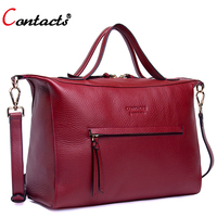 Contact S Brand Luxury Handbags Women Bags Designer Genuine Leather Crossbody Bag For Women Messenger Bags