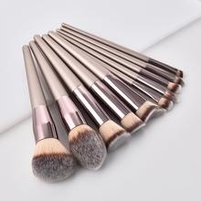 1PCS Wooden Foundation Cosmetic Eyebrow Eyeshadow makeup brushes case holder makeup brushes natural hair soft makeup brush set#7