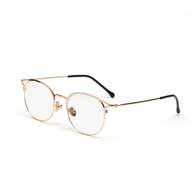 cb6868a0e7 Fashion Vintage Retro Metal Frame Clear Lens Glasses Nerd Geek Eyewear  Eyeglasses Oversized Round Circle Eye