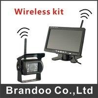 Free Shipping DIY 2 4G Wireless HD 7 Monitor LCD Display RX TX IR Rearview Camera
