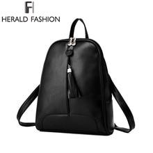 Herald Мода кисточкой Повседневное ежедневно Рюкзаки Школьные сумки для подростков Обувь для девочек Для женщин кожа Рюкзаки молодежный рюкзак для ноутбука