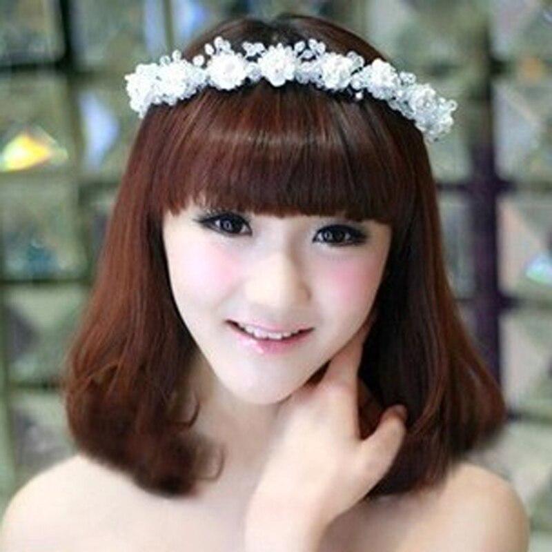 5 штук цветок волос повязка на голову для женщины с цветы жемчуг ювелирные изделия свадьба волос аксессуары