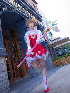 "Image 4 - 44.8 ""comprimento cardcaptor sakura claro cartão kinomoto sakura cosplay estrela sonho vara varinha mágica festa de halloween cosplay adereços novo"