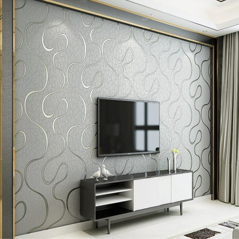beibehang Modern simple non - woven wallpaper bedroom 3D stereo stripes living room wallpaper wallpaper background wallpaper 0 53x10m modern blue gray green simple non woven wallpaper living room bedroom wedding room shop decoration wallpaper