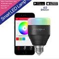 E27 5 w playbulb mipow bluetooth 4.0 inteligente wake up light rgb smartphones app controlada pode ser escurecido lâmpada led cor inteligente iluminação