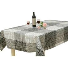 Mantel con diseño de mariposa/cuadros a prueba de aceite impermeable Anti suciedad PVC rectangular mantel de Mesa para el hogar