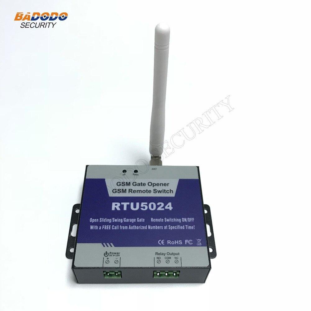 Wireless Access Control GSM 2G/3G Gate Opener GSM Remote Control Switch RTU5024 For Open Sliding Swing Garage Shutter Gate Door