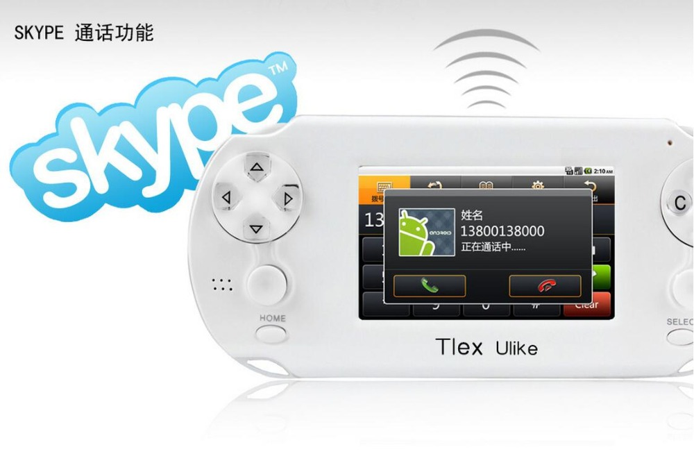 ФОТО Tlex Ulike 3.5inch Touch Screen WiFi android Game Console Support PSP Games Bulit In 4GB Memory