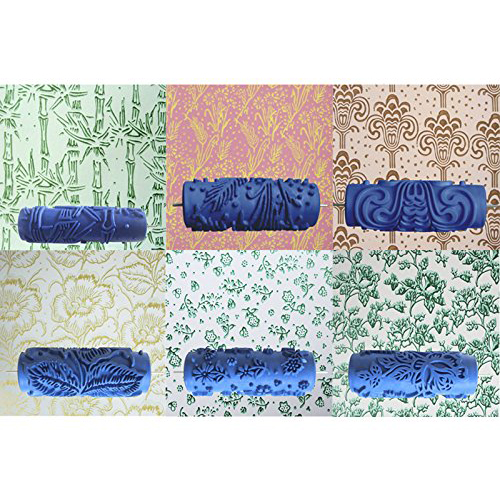 Promotion! decoration 15cm wall paint roller pattern Clouds Reliefs for the decoration of the blue machine jfbl 2x 15cm blue floral pattern roller