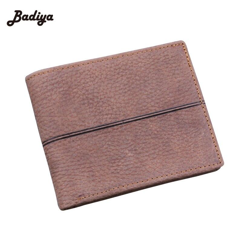 Genuine Leather Wallet Men Cowhide Wallet Luxury Brand Design Bifold Thin Wallet Credit Cards Wallet Money Holder Minimalist