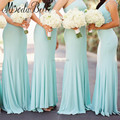 2016 Western Beaded One Shoulder Turquoise Blue Bridesmaid Dress Long Party Dress For Wedding Guests Dama De Honra