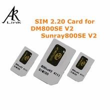 Anewkodi 1 unid Original Tarjeta SIM 2.20 Tarjeta SIM 2.20 para DM800se-V2, Dm800se-V2 Receptor de Satélite, Dm800se SIM 2.20 envío gratis