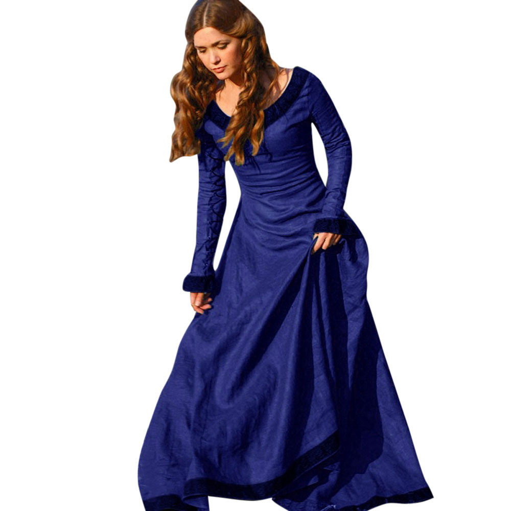 JAYCOSIN Dress Women Sexy Summer Vintage Medieval Plus Size Costume ...