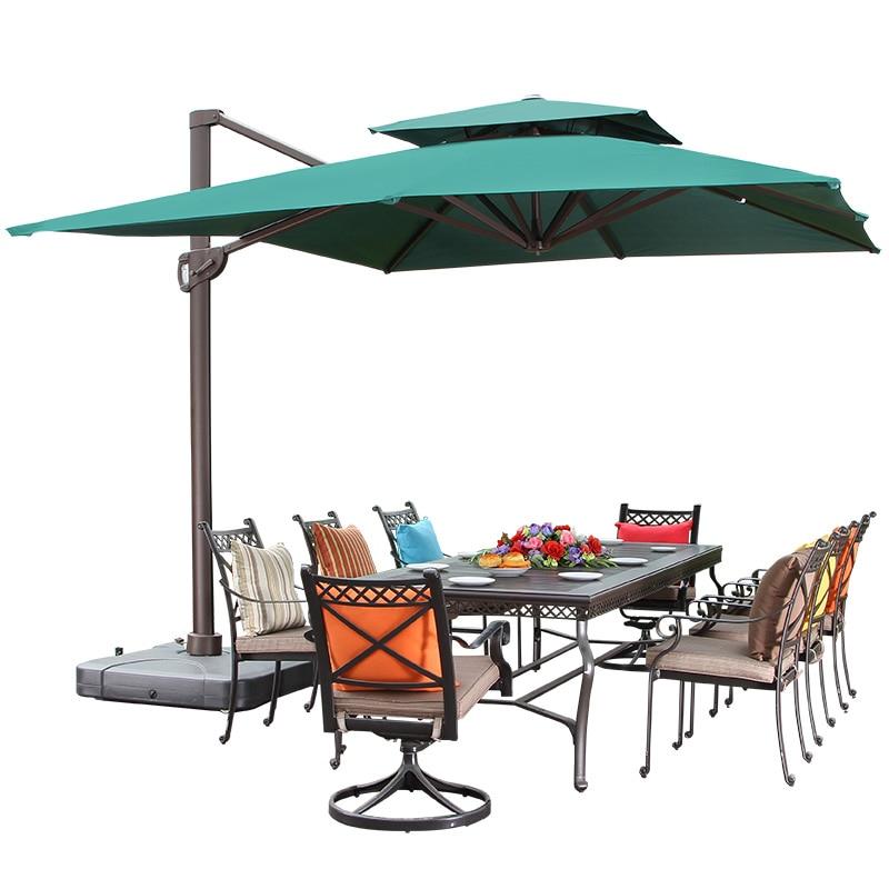 Soleil parapluie extérieur Cour Parapluie Grand Jardin Terrasse Surdimensionné En Plein Air parasol Parapluie Romain Carré