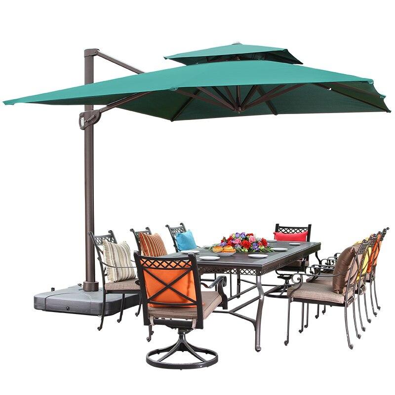 Sunshine Outdoor Umbrella Courtyard Umbrella Large Garden Terrace Oversized Outdoor Sun Umbrella Roman Umbrella Square