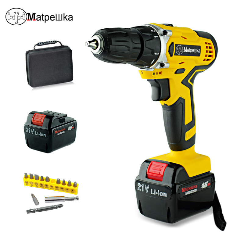 Gewissenhaft 21 V Power Werkzeuge Schraubendreher 2 Batterien Wasserdicht Bohrer Mini Cordless Double Speed Elektrische Schraubendreher + Professionelle Toolbox Moderater Preis