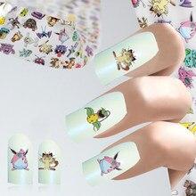 1 pc 4*100cm desenhos animados diy design folha de unhas mouse moda menina adesivos adesivo manicure diy decoração do prego papel
