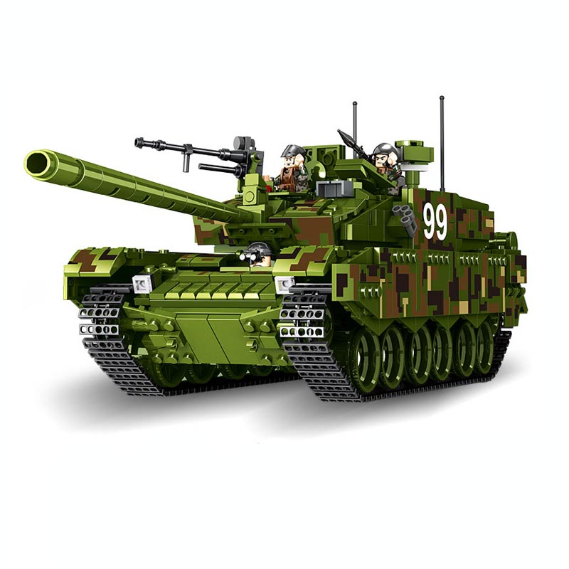 632002 1339pcs Tank World Military War Weapon Type 99 Tank Set Model Building Blocks Educational Toys lepin 743pcs set diy educational 8 in 1 armed building blocks model military weapon ship tank fighter assembling bricks toys kids gift