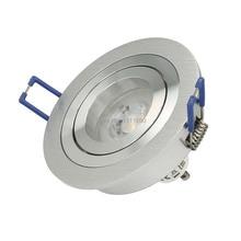 Светодиодный светильник, встраиваемый SOPT светодиодный потолочный светильник, затемненный светодиодный светильник Светодиодный точечный светильник, точечный круглый металлический сатиновый GU10 MR16 разъем