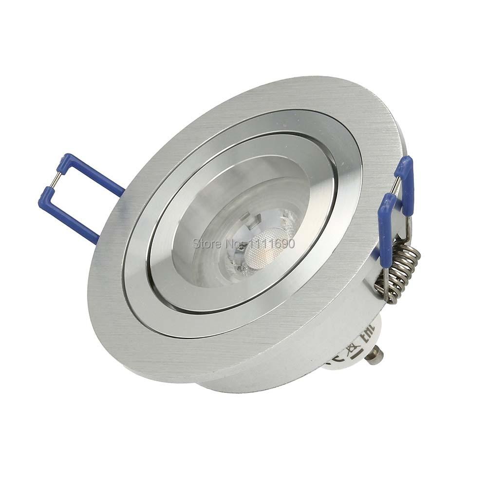 LED Downlight Recessed SOPT LED Ceiling Downlight Dimmable Led Downlight LED Spot Light Spot Round Metal Satin GU10 MR16 Socket