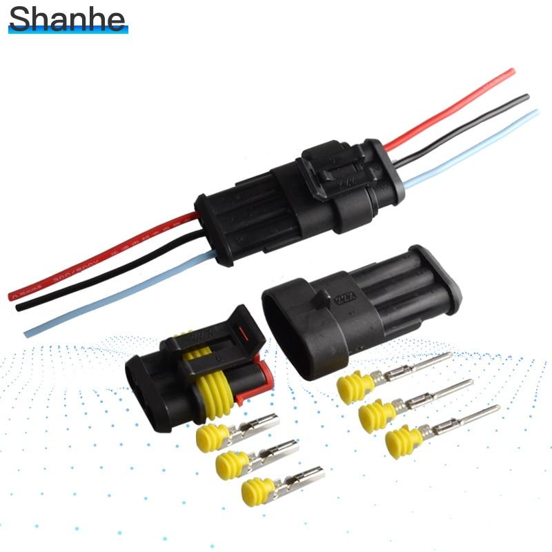 3 контактный водонепроницаемый электрический провод автомобильный разъем для автомобиля|wire 5 pins|wire 3 pin5 pin wire | АлиЭкспресс
