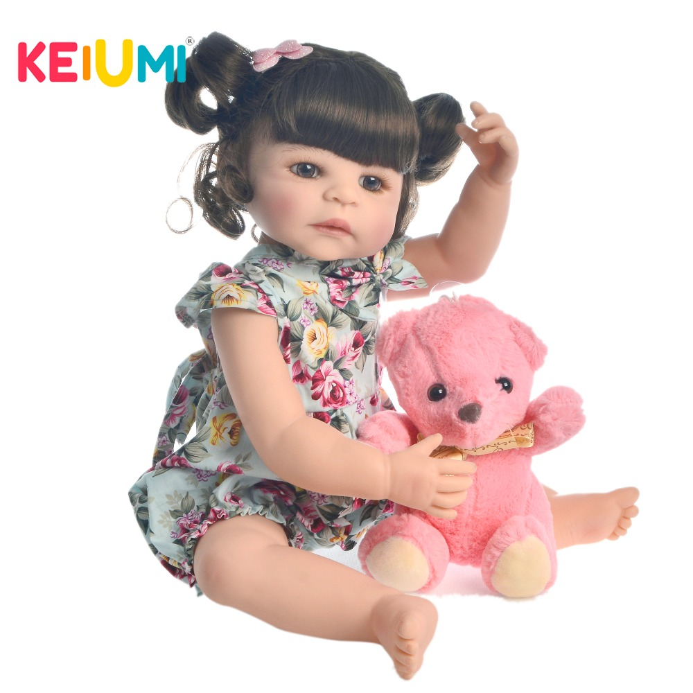 New Design 22 55 cm Reborn Baby Girl Full Silicone Body Reborn Dolls Realistic like Kids Playmate Baby Toys For Birthday GiftsNew Design 22 55 cm Reborn Baby Girl Full Silicone Body Reborn Dolls Realistic like Kids Playmate Baby Toys For Birthday Gifts