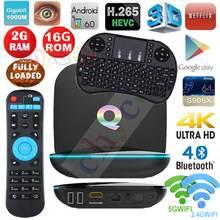 Q BOX Android 6.0 TV Box S905X Quad Core 4 К H.265 DLNA Miracast 2.4 Г 5 Г Wi-Fi Smart tv Media Player Set top box PK X96 H96 pro