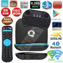 Q S905x box Android 6.0 TV BOX Amlogic Quad Core 2 GB/16 GB 2.4G/5G WiFi 4 K 3D H.265 palyer TV BOX Set top box PK X96