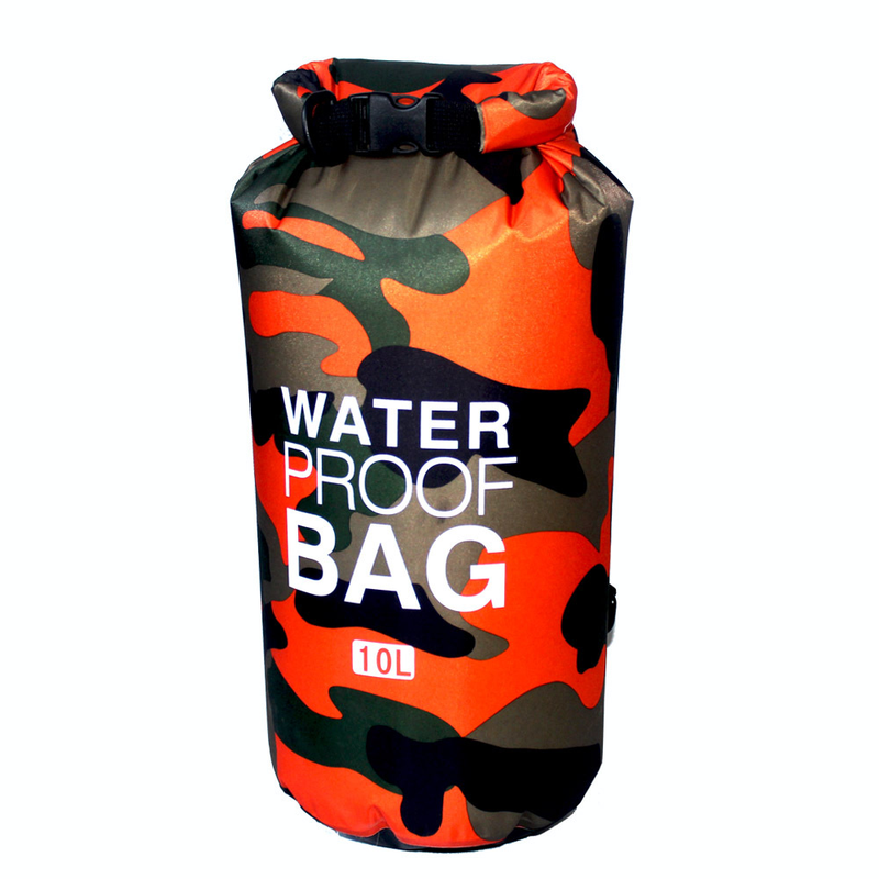 10L Fashion Camouflage Waterproof Bag Swimming Drifting Outdoor High Quality Trend Cool Backpack PVC Spot