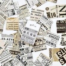 45 teile/schachtel Englisch Zeitung Papier Aufkleber Set Dekorative Schreibwaren Aufkleber Scrapbooking DIY Tagebuch Album Stick Label