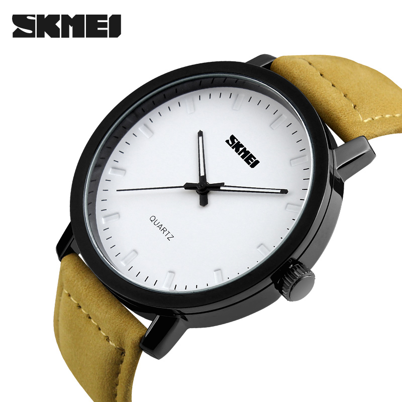 SKMEI Wristwatch Men Luxury Brand Leather Waterproof Male Clock Quartz Watch Fashion Casual Mens Watches Relogio Masculino jedir reloj hombre army quartz watch men brand luxury black leather mens watches fashion casual sport male clock men wristwatch