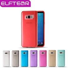 ELFTEAR Конфеты Цвет ТПУ Ясно Чехол для Samsung Galaxy S8 Силиконовые дело Ясно Ультра Тонкий Задняя Крышка для Samsung S8 Fundas Capa