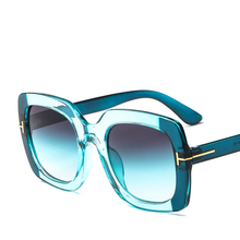цена на 2019 Europe and the United States new trend ladies sunglasses T-word retro big box sunglasses fashion ladies sunglasses
